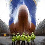 Chantier maritime à l'abandon